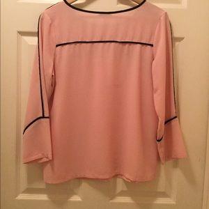 Milano Pink Flared Long Sleeve Blouse.  Sz M